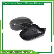 For BMW 3 Series E92 2D Coupe/E93 Convertible LCI 09 10 11 12 Replacement Type Gloss Black Carbon Fiber Mirror Cover