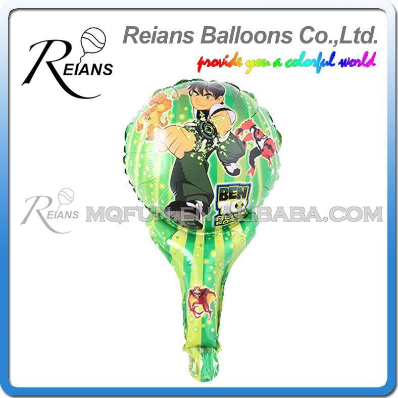 50 stücke REIANS 51 cm niedlichen cartoon kinder kinder BEN 10 haltegriff stick Party geburtstag aluminium folie luft ballon Event spielzeug geschenk