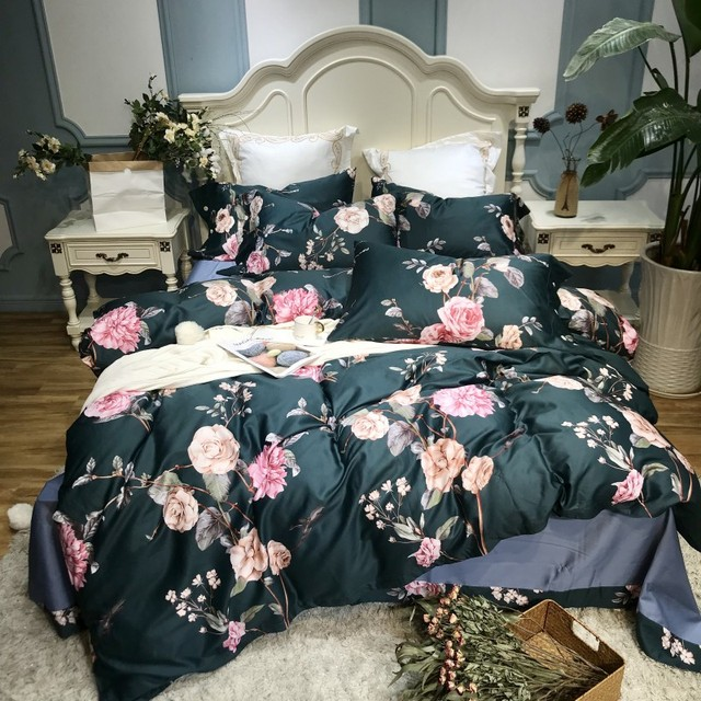 Pastoral style Bedding Set Kid Girls Adult Linen Soft Duvet Cover Pillowcase Bed Sheet Queen king size egyptian cotton bed set