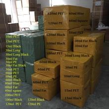 500 Uds Fat E Botellas de Líquido 10ml 15ml 30ml 60ml 100ml 120ml Pen Shape PET botellas cuentagotas largas con tapa de Gel de uñas