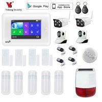 Yobang безопасности Сенсорный экран WI FI GSM сигнализация Системы безопасности приложение Управление Беспроводной дома сигнализация противопо