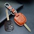 Кожа Lexus ES300 GS LS LX RX Ключа Автомобиля Чехол брелок Обложка для Toyota Camry RAV4 PRADO key holder брелок Автоаксессуары