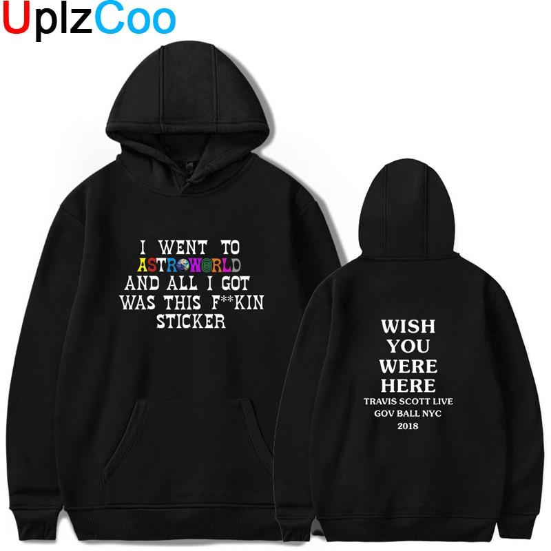 UplzCoo ASTROWORLD Hoodies moda mujer hombres otoño primavera suéteres Travis ASTROWORLD K Pop Streetwear Hoodies Tracksuits OA115