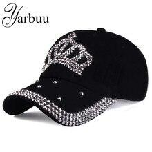 Free shipping 2016 new fashion style baseball caps men and womens Sun hat rhinestone denim cotton snapback cap
