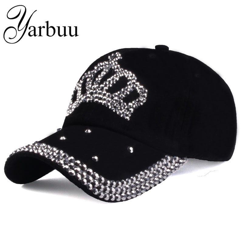 [YARBUU]  Baseball     caps   2016 new fashion style men and women's Sun hat rhinestone hat denim and cotton snapback   cap   Free shipping