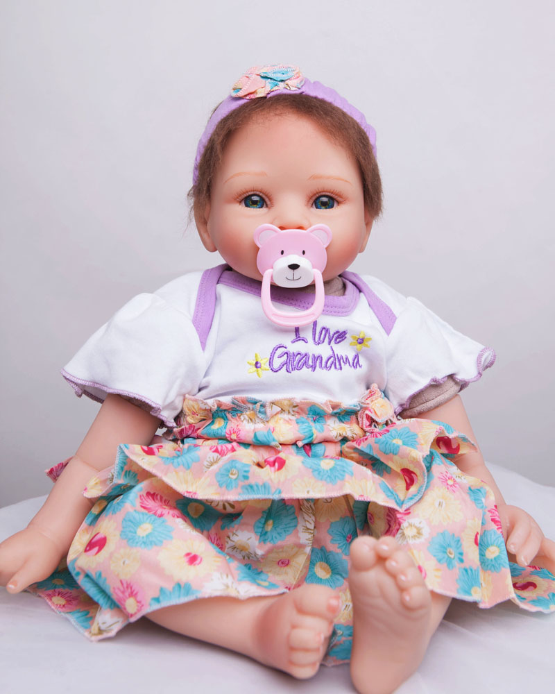 все цены на NPK COLLECTION Silicone reborn baby doll toy 55cm newborn girl doll lifelike birthday gifts Christmas present play house toy