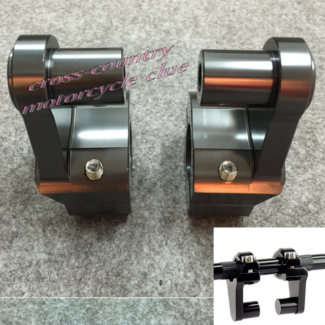 S.UYUE 5 colors Universal  Anodized 2 Inch Pivoting Motorcycle Handlebar Riser For 7/8 28mm Bars Clamp