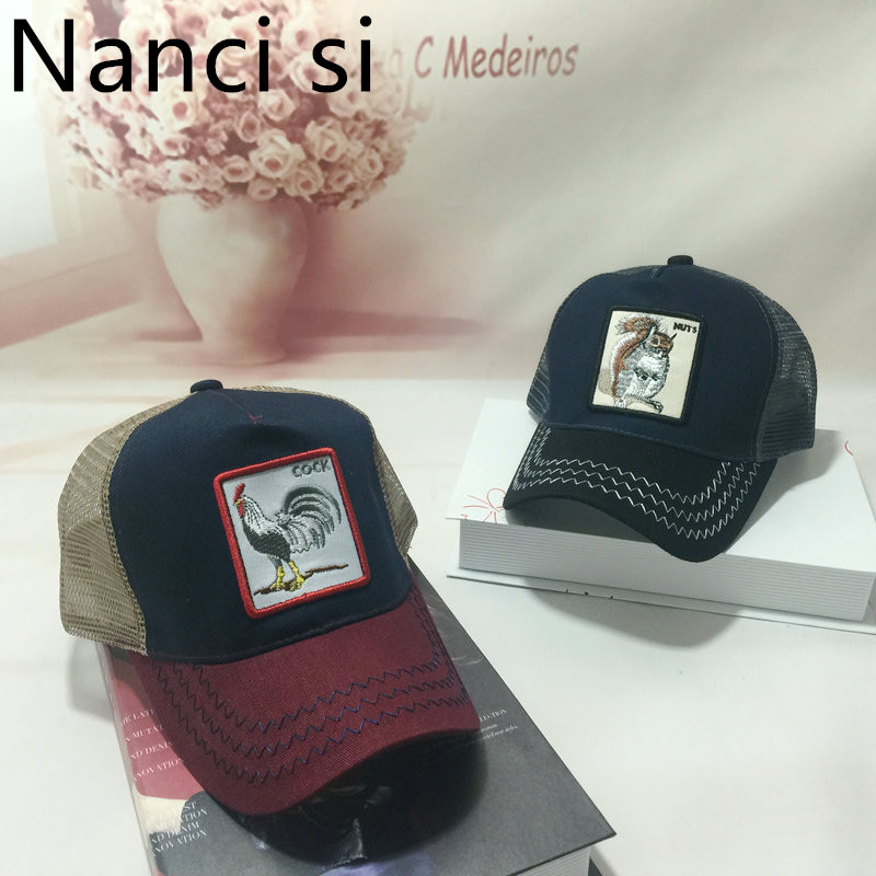 Nanci si Cock Embroidery   Baseball     Cap   Eat Chicken Snapback   Caps   Casquette Hats Breathable Mesh Hip Hop Dad Hats For Unisex