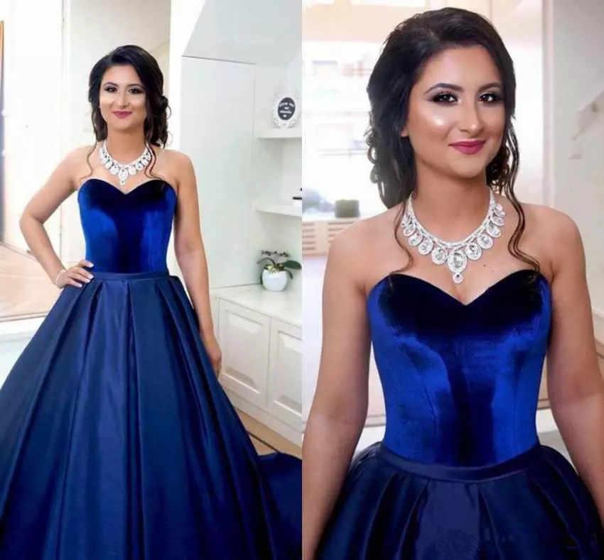 JaneVini terciopelo superior Borgoña vestido de dama de honor vestidos largos de graduación una línea de encaje espalda damas de honor vestidos de boda Azul Real