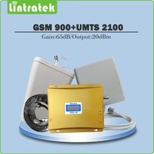 65dB Dual Band Repeater (edge) 2 г GSM 900 мГц + (HSPA) 3 г UMTS WCDMA 2100 мГц Мобильный усилитель сигнала Полный комплект с Телевизионные антенны + 15 м кабель