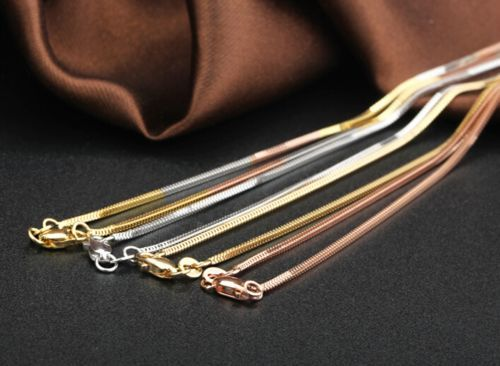 New Pure Au750 18K Yellow Gold Women's Milan Box Chain Necklace 20inch 5