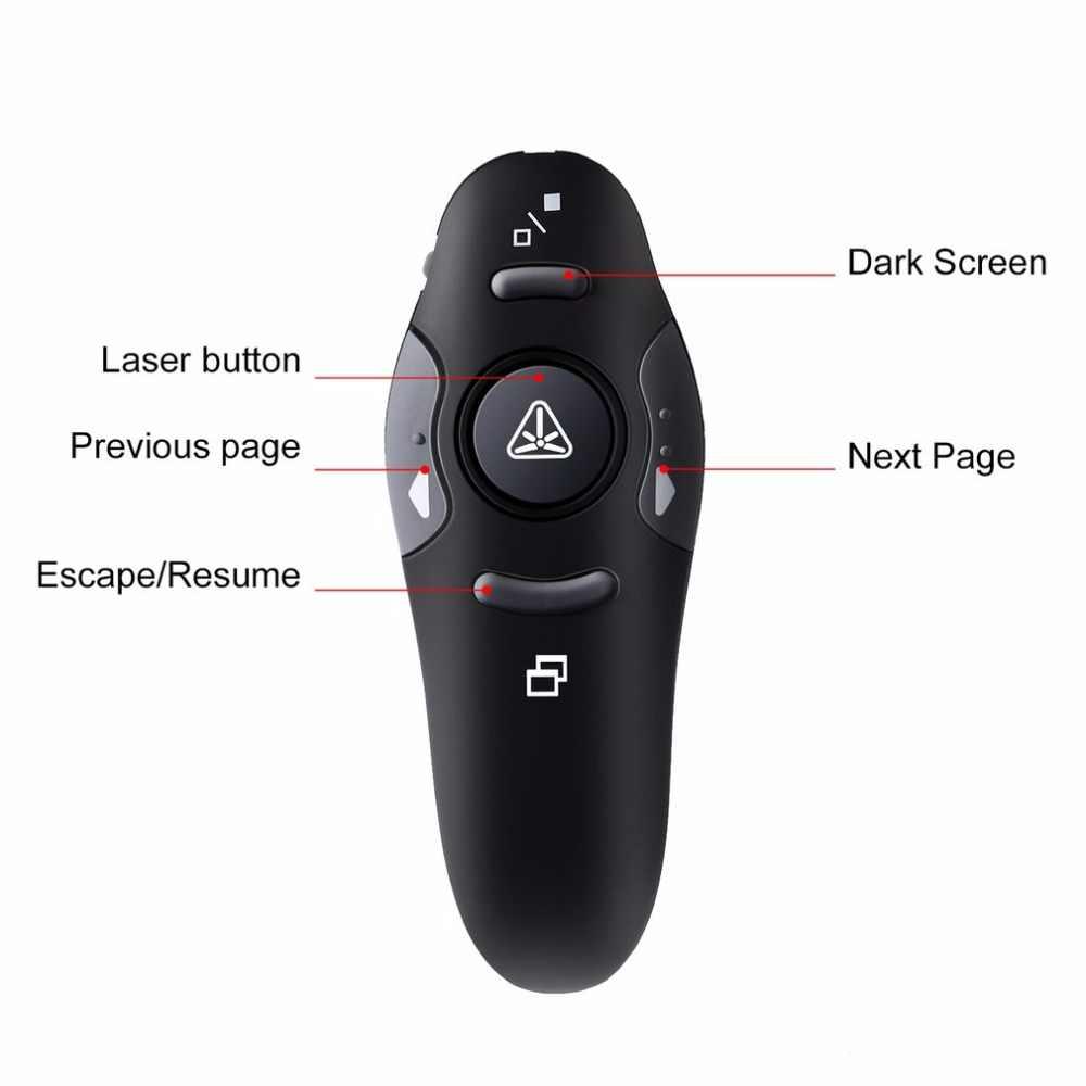 2.4 ghz אלחוטי מרחוק אדום לייזר מצביע מגיש אדום לייזר מצביעי עט USB RF שלט רחוק PPT Powerpoint מצגת