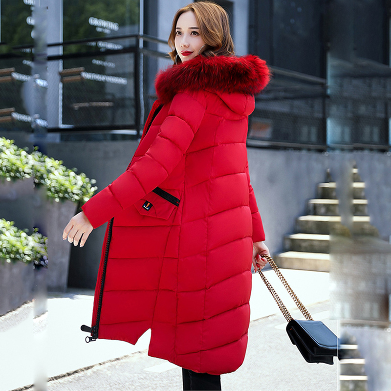 Wmwmnu 2017 women's fashion winter warm jacket and women's winter long hooded coat whit girls Elegant winter thick jacket   parkas