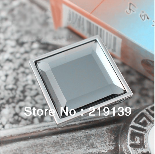 Modern Fashion Style Square Gems Crystal Cabinet S And Handles Cabinets Drawer Cupboard Pulls