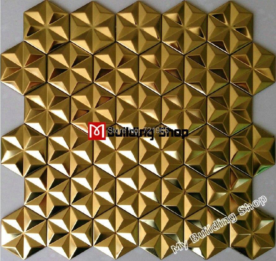 Famous 12 X 12 Ceiling Tiles Tall 16 Ceramic Tile Rectangular 2 X 6 Glass Subway Tile 2X4 Ceiling Tile Young 2X4 Vinyl Ceiling Tiles Soft2X6 Subway Tile Gold Metal Mosaic Stainless Steel Wall Tile Backsplash SMMT011 3D ..