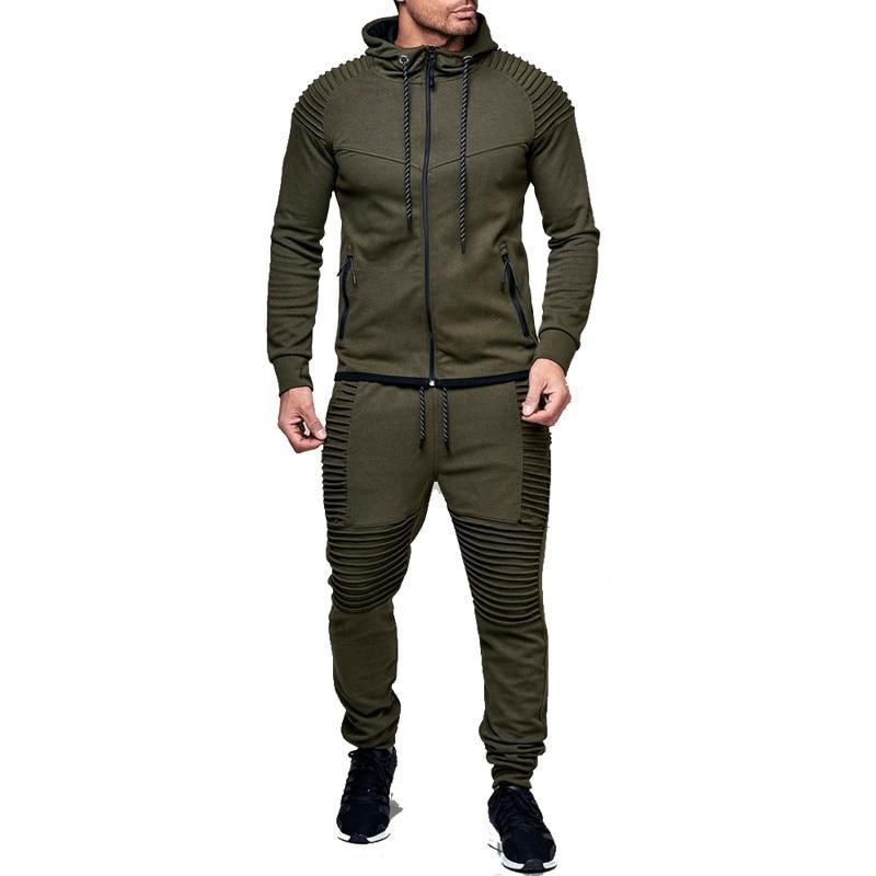 Zogga Fashion Jacket + Pants Sportswear Men Tracksuit Hoodie Spring Autumn Men Brand Clothes Hoodies Mens Track Suit Set