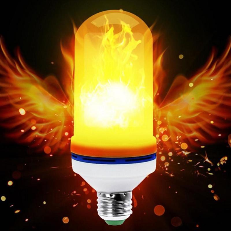 LED Flame Lamp AC 85-265V 2835SMD 96LED Creative Flickering Emulation Decoration Lights Corn Light Bulb IP65 Flame Effect Lamp