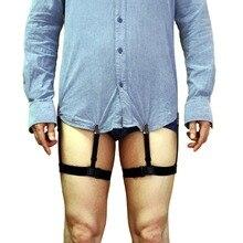 Punk Männer Frauen Gentleman Bein Oberschenkel Elastische Shirt Bleibt Strumpfgürtel Strumpf Hemd Halter