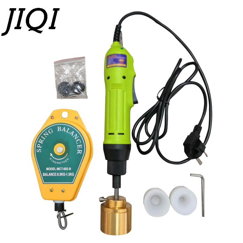 JIQI Electric Hand Held Plastic Bottle Capping Machine Manual Automatic Cap Screwing Lid Sealing Tightener Capper Driver 1-30MMJIQI Electric Hand Held Plastic Bottle Capping Machine Manual Automatic Cap Screwing Lid Sealing Tightener Capper Driver 1-30MM