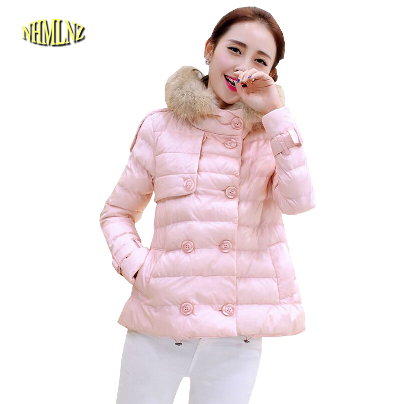 Winter New Fashion Women Down jacket Elegant Fur collar Hooded Big yards Slim Jacket Thick Warm High quality Cotton Coat G1933 цены онлайн