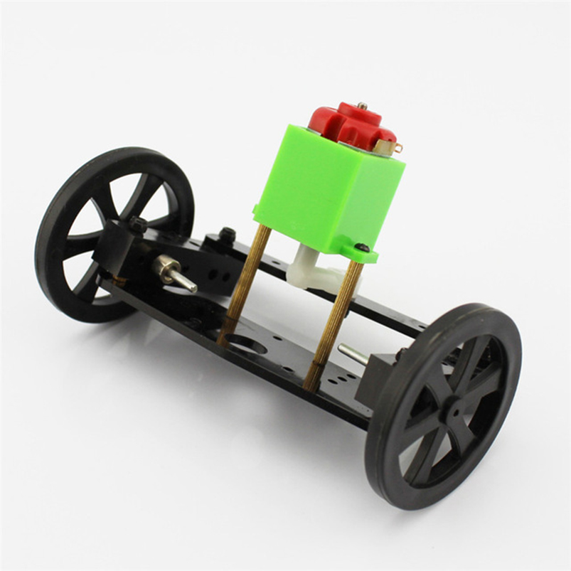 New DIY Kit Model Car ZX1 Turn to Front Axle Steering System Small Trolley 130 DC Motor Drive Gear 9.5*6.5*5.7cm