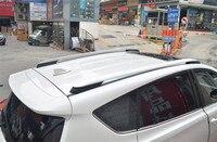 Автомобильные аксессуары Алюминий сплав оригинальный багажник на крыше решетчатая Надставка борта кузова для Toyota rav4 2015 2016 2017 стайлинга авт
