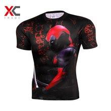 Newest Design Fashion American Comic Badass Deadpool T Shirts Summer MenBoy Short Sleeve Tops & Tees Clothes 3D Printed T-Shirts