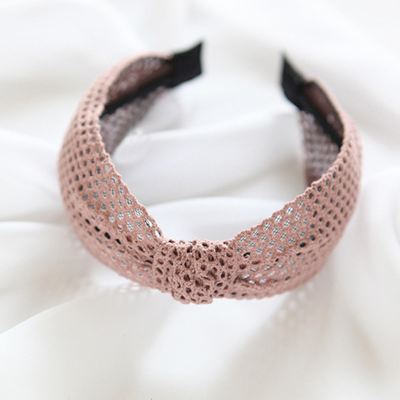 Bohemian minimalist headband Knotted Wide Hairband women girl lace breathable headdress bow summer seaside cool hair accessories in Women 39 s Hair Accessories from Apparel Accessories