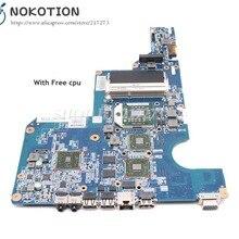 NOKOTION 597673-001 610160-001 аккумулятор большой емкости для hp CQ62 G62 ноутбук материнская плата Гнездо S1 DDR3 HD4500 графика Процессор