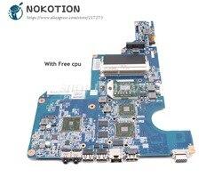 NOKOTION 597673 001 610160 001 dla HP CQ62 G62 Laptop płyta główna gniazdo S1 DDR3 HD4500 grafika bezpłatny procesor|Płyty główne do laptopów|Komputer i biuro -