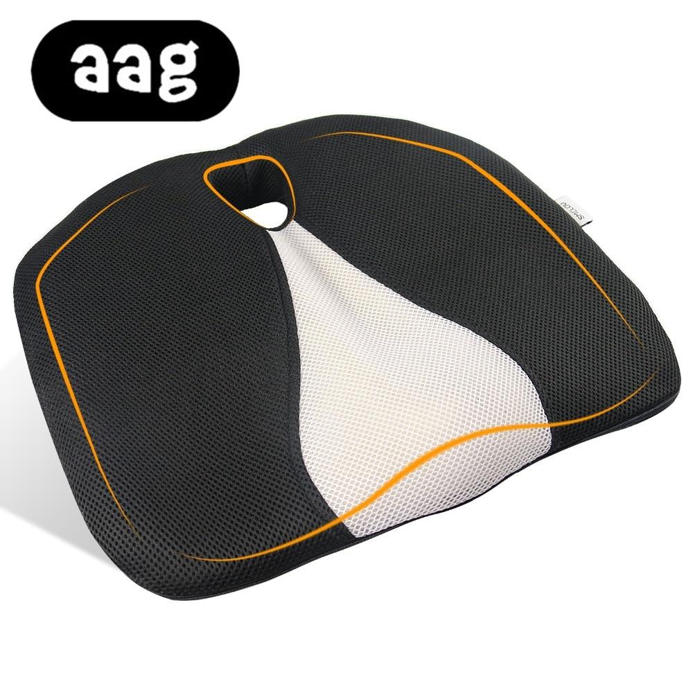AAG Pisces Seat Cushion Foam Memory Ergonomic Airplane Truck Auto Driver Car Seat Cushion Chair Cushion Hemorrhoid Office Chair
