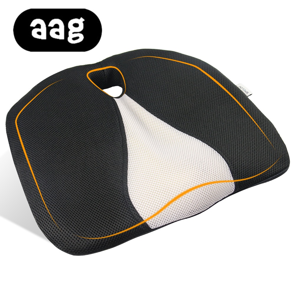 AAG Pisces Seat Cushion Foam Memory Ergonomic Airplane Truck Auto Driver Car Seat Cushion Chair Cushion Hemorrhoid Office Chair image