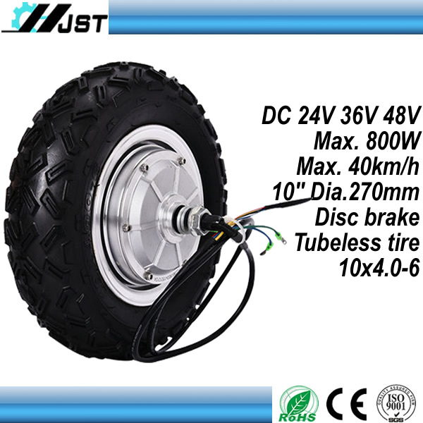 <font><b>DC</b></font> <font><b>Brushless</b></font> gearless 10 Inch 250W <font><b>350W</b></font> 500W 800W Electric Wheel Hub <font><b>Motor</b></font> image