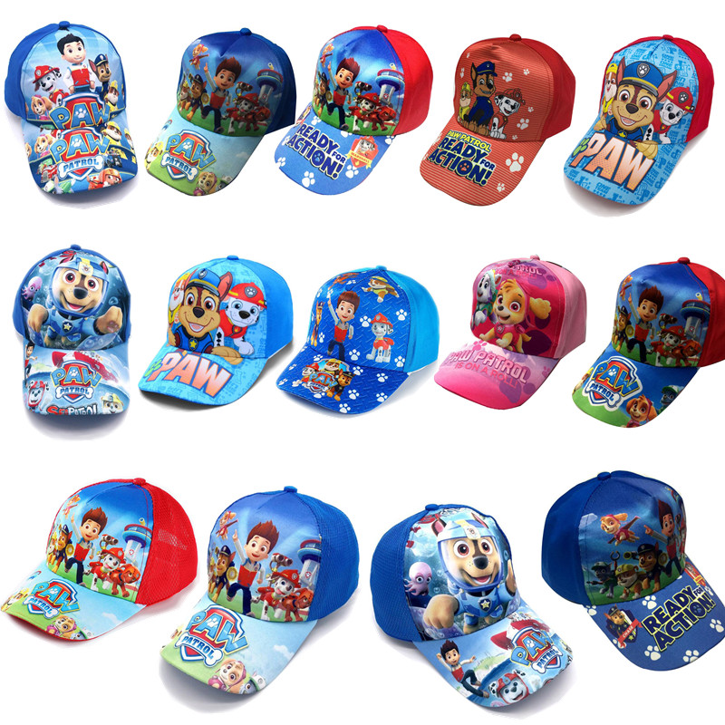 2019 PAW Patrol Patrulla Canina Cotton Cute Children's Summer Hats Caps Headgear Chapeau Puppy Print Party Birthday Gift Toys
