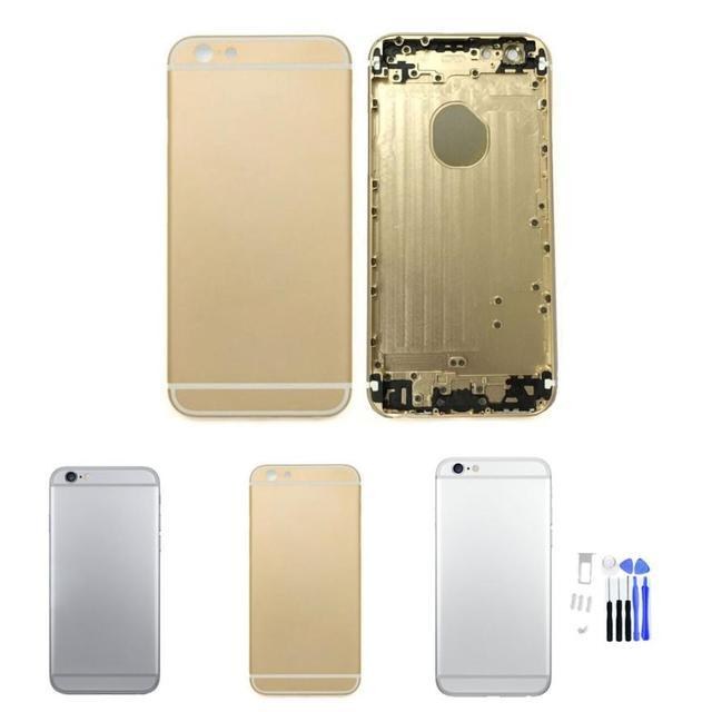 Peça de reposição de qualidade superior liga de metal de volta da bateria caso tampa traseira para o iphone 6 4,7 polegadas