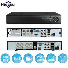 Hiseeu 4CH 8CH 1080 P 3 в 1 DVR видео рекордер для AHD аналоговые камеры IP камера P2P NVR системы видеонаблюдения DVR H.264 VGA HDMI
