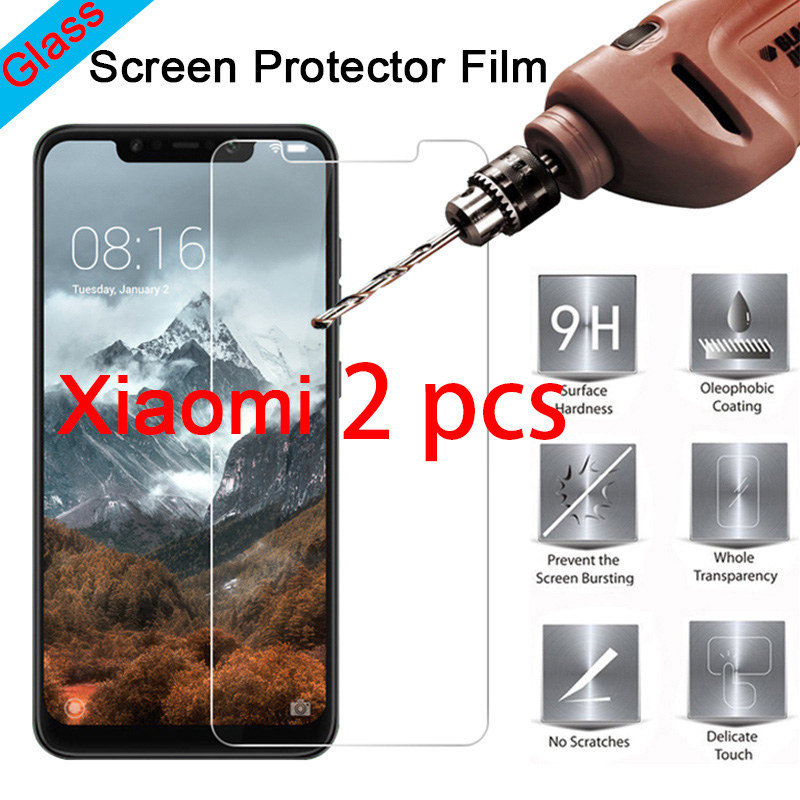 2pcs! 9H HD Toughed Tempered Glass Screen Protector For Xiaomi Mi 9T 9 SE 8 Pro Lite 6 Protective Glass On Xiaomi Mi 5C 5S Plus
