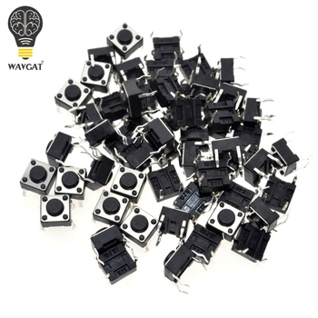 50pcs/lot 6x6x4.3MM 4PIN G89 Tactile Tact Push Button Micro Switch Direct Plug-in Self-reset DIP Top Copper Free Shipping - discount item  7% OFF Active Components