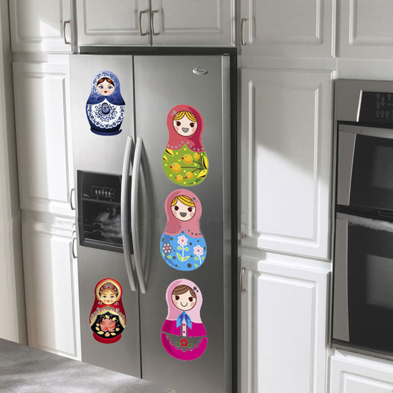 Removable Wall Decals Stickers Window Door Desk Refrigerator Decoration Russian Doll Fridge Magnets In From Home Garden On