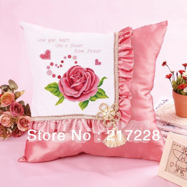 buy cross stitch pillowcase pillow slip sofa car cushion pillow 100 precision printing cs 003pil from reliable cross stitch suppliers on