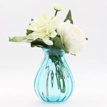 Glass Vase Hydroponics Green Transparent Flower Creative Simple Living Room Dining Room Decoration Color Dried Flower Vase