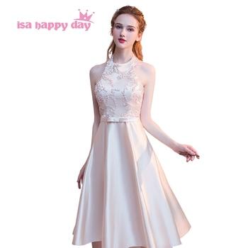 2c5df3057 Robe de mariage chicas adolescentes concurso corto halter dulce 16 elegante  baile ocasión especial vestidos 2019 50 H4254