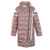 Elf SACO invierno p femenina dulce impresión del remiendo bragueta suelta abajo cubre diseño largo femenino