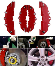 4 Pcs New Plastic 3D Car Caliper Covers Front Rear Kit Truck Red Auto Universal Disc Brake