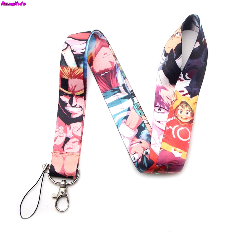 Ransitute My Hero Academia Cartoon Multifunction Mobile Phone Key Strap Rope Lanyard Neckband Mobile Phone Decoration