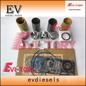 For Bobcat skid loader V1305 V1305T piston + piston ring set cylinder liner Engine repair gasket main con rod bearing