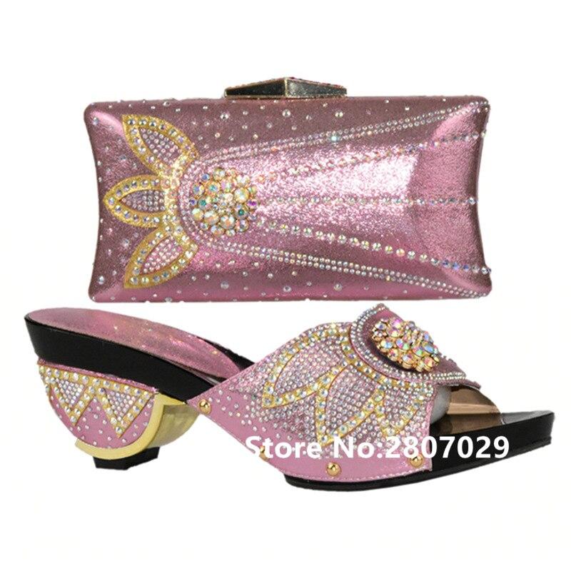 plata Bolso rosado Nueva Para Mujeres Y Llegada Zapato púrpura Señoras Las Italianos Africano Set El Zapatos En Púrpura Bolsa Oro Partido gqAgaRUz