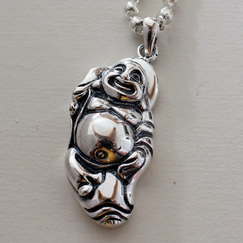 Ensure the safety of silver 925 silver Maitreya Buddha Pendant Necklace Buddha belly laugh