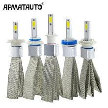2 sztuk H4 LED H7 H11 H8 żarówki reflektorów samochodowych 9005 HB4 9006 H1 H9 H10 H16 (JP) HB3 lampa LED z chipy cob samochodowe światła przeciwmgielne 6000K 12V