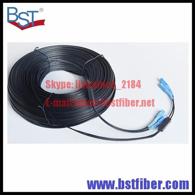 300 M de Interior Cable de Bajada FTTH Fibra Óptica Patch Cord SC SC SX SM SC-SC 300 Metros 2 Núcleos Cable de Caída de Parche cable